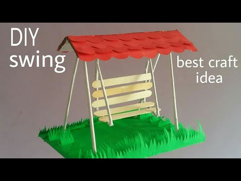 DIY Swing| how to make swing with papers and cardboard/easy paper jhula