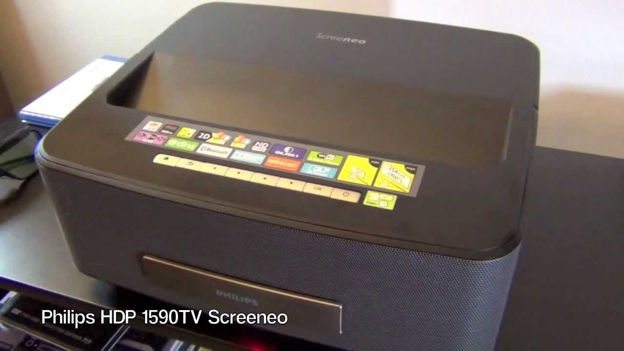 videoprojecteur philips hdp 1590tv screeneo test et prise en main youtube. Black Bedroom Furniture Sets. Home Design Ideas