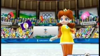 Princess Daisy figure skating in Mario & Sonic at the Olympic Winter Games