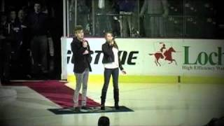 Colton & Schyler Dixon sings the anthem @ the Nashville Predators