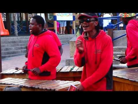 Ikamva Marimba band at Waterfront, 12 Oct 2016, Cape Town - South Africa
