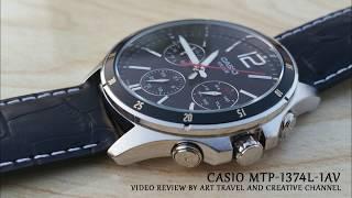Casio MTP-1374L-1AV Black Genuine Leather Strap Wrist Watch Video Review