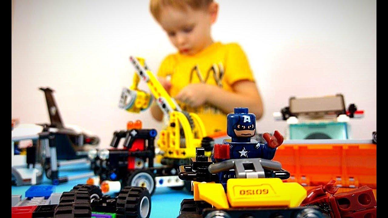 Прямой эфир! Спасаем Лего машинки Новое Видео для детей Игрушки детям по конструктор #Lego игрушка