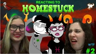MY FRIEND REACTS TO HOMESTUCK CHARACTERS // Part 2 - Alpha Kids, Trolls and Ancestors
