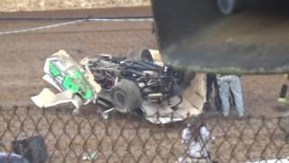 Atomic Speedway Tyler Carpenter Late Model Crash