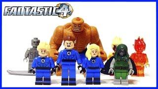 LEGO Fantastic Four Фантастическая Четверка Минифигурки Распаковка Сборка Обзор ЛЕГО