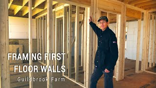 ICF Mountain Homestead: Framing the First Floor Walls