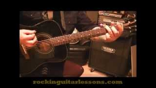 How to play Me And Bobby McGee by Janis Joplin on guitar by Mike Gross
