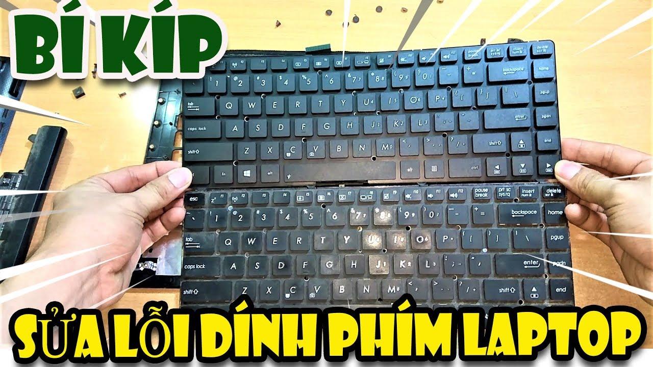 Cách tháo bàn phím laptop sửa lỗi dính phím | Văn Hóng