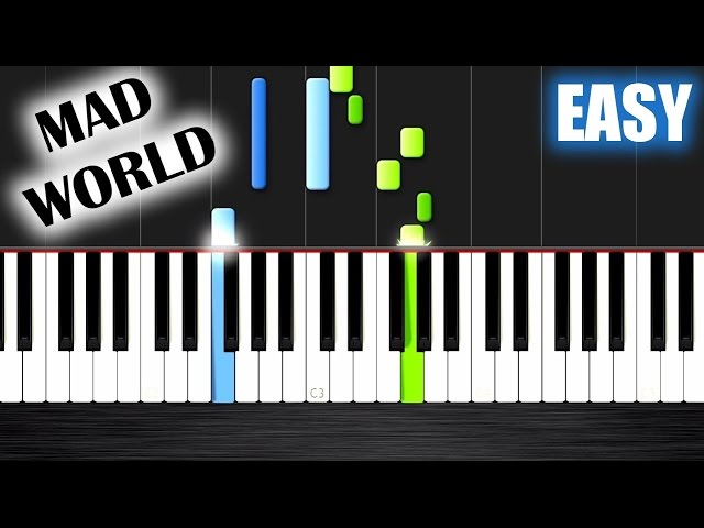 Mad World Gary Jules Easy Piano Tutorial By Plutax Youtube