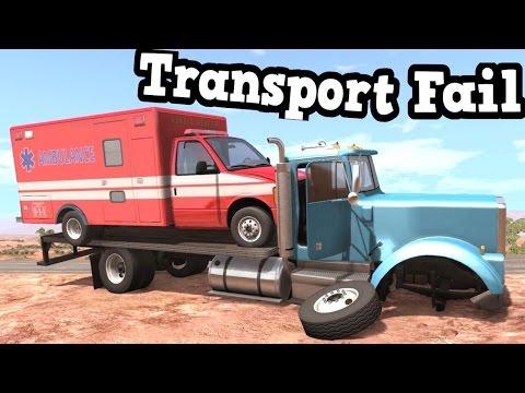 BeamNG Drive - Ambulance Transport Fail