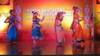 folk dance performance in durga puja 2014 (north bangalore bengali association)