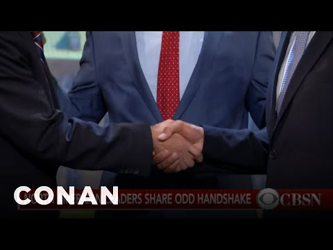 Thumbnail: Justin Trudeau's Awkward Handshake Was Worse Than You Thought - CONAN on TBS