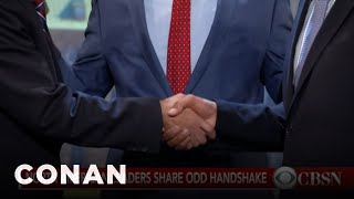 Justin Trudeau's Awkward Handshake Was Worse Than You Thought  - CONAN on TBS
