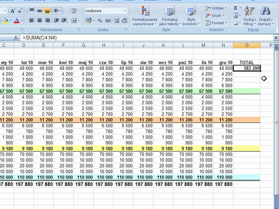 Arkusz kalkulacyjny randki facet finansów