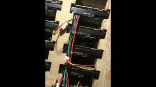8 Hard drives running of a single DIY Molex to SATA power connector for 8 hard drives