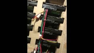 8 Hard drives running of a single DIY Molex to SATA power connector for 8 hard drives