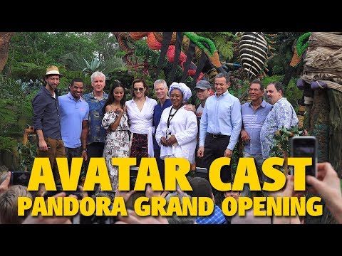 Zoe Saldana, Sigourney Weaver & James Cameron with AVATAR Cast & Creators | Pandora Grand Opening