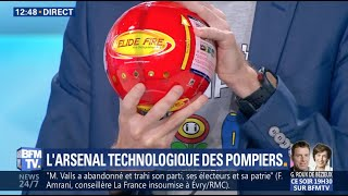 ELIDE FIRE® - L'arsenal technologique des pompiers sur BFM TV