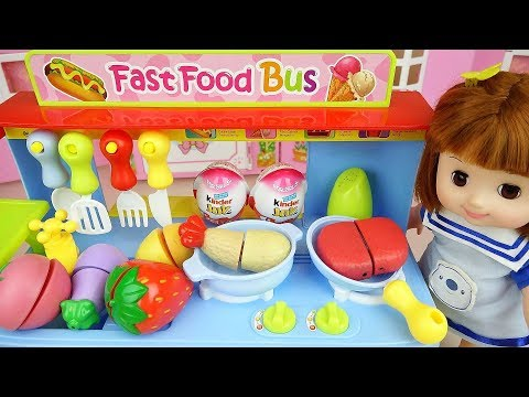 Thumbnail: Baby Doli and food car toy with surprise eggs baby doll play