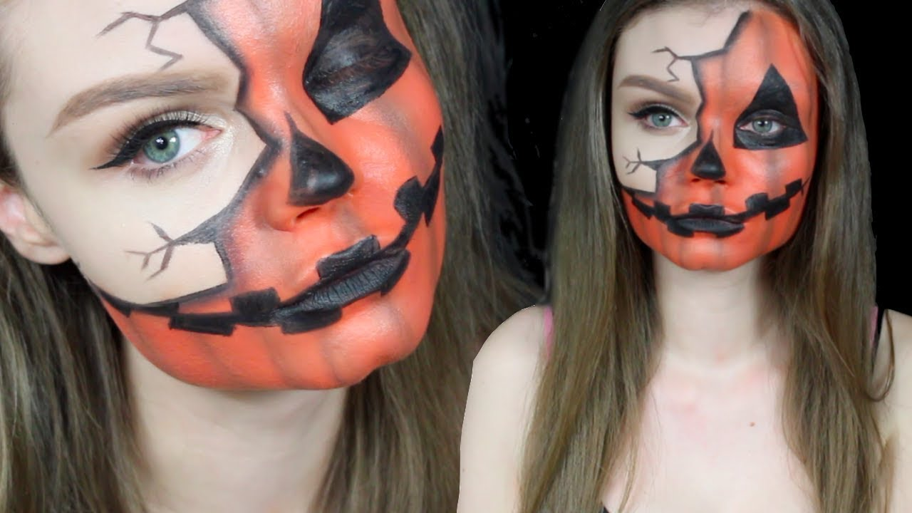Comment Faire Un Maquillage D Halloween.Pumpkin Citrouille Makeup Halloween Youtube