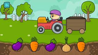 Learn colors and vegetables with fun games nursery rhymes