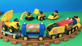 CAT Construction trucks Mini Workers Preschool Express Train - Mini Mighty Machines