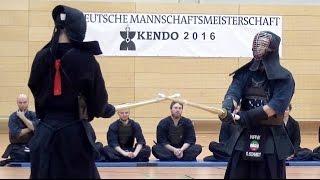Deutsche Kendo Mannschaftsmeisterschaft (DMM) 2016 - Finale Männer - NRW vs Berlin