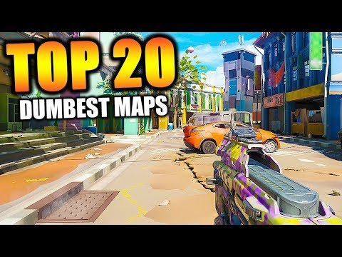 "Top ""20 DUMBEST MAPS"" in COD HISTORY (Call of Duty)"