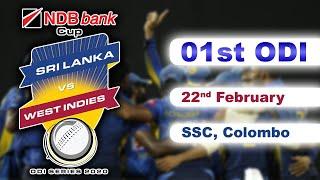 01st ODI : West Indies Tour of Sri Lanka 2020