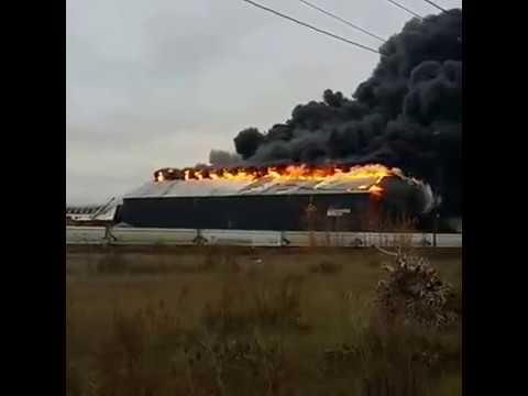 Bethlehem steel plant fire 11/9/16