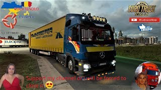 Euro Truck Simulator 2 (1.36)   Mercedes Actros MP3 Custom Edit 1.36x Road to Ukraine Roextended Project v2.5 (all DLC's) by Arayas Krone Megaliner Ownable Trailer by Sogard3 and SCS  Naturalux Graphics and Weather + DLC's & Mods  Support me please thanks