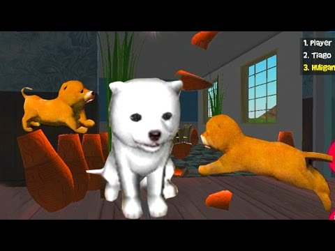 СИМУЛЯТОР СОБАКИ 🐶🐶🐶 #3 Белый ЩЕНОК и щенята мульт-игра про щенка развлекательное видео