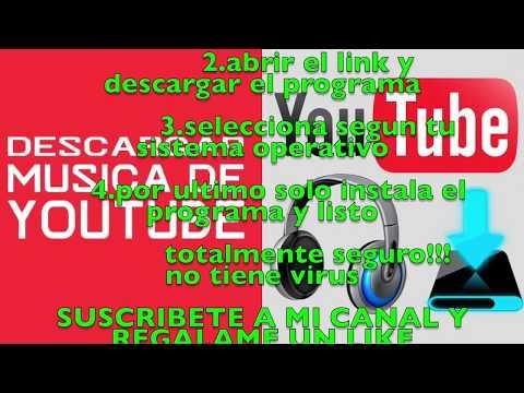 DESCARGAR MUSICA GRATIS DE YOUTUBE  2018