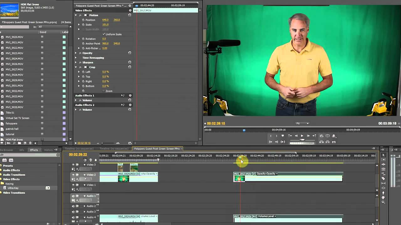 How to Key Green Screen DSLR Footage in Premiere Pro CS5 - YouTube