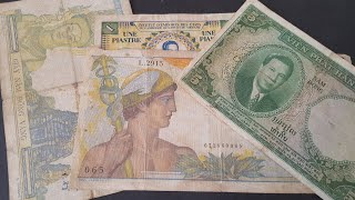 Highly collectible Indochina piaster banknotes