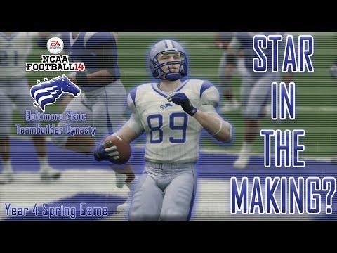 Redshirt Freshman WR DOMINATES! | NCAA Football 14 Baltimore State Dynasty | Year 4 SPRING GAME! |