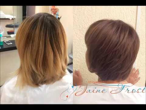 Окрашивание осветленных волос