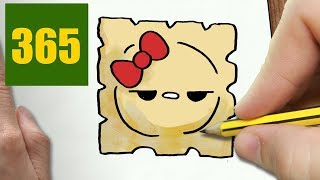 HOW TO DRAW A RAVIOLI CUTE, Easy step by step drawing lessons for kids