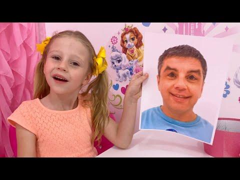 Nastya plays with magic photos
