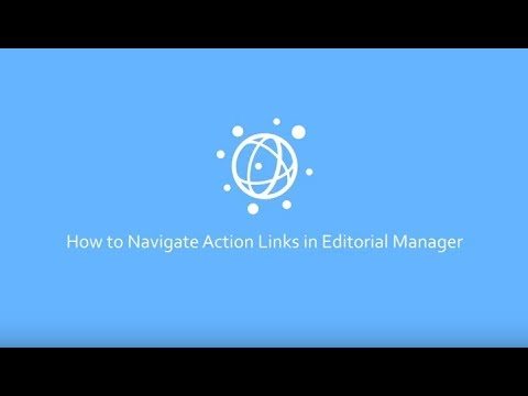 How to Navigate Action Links in Editorial Manager as a PLOS Reviewer