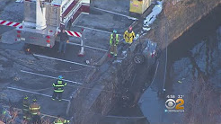 Cars Plunge Into River In Nutley, N.J.