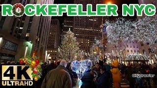 【4K】CHRISTMAS IN ROCKEFELLER CENTER, NEW YORK