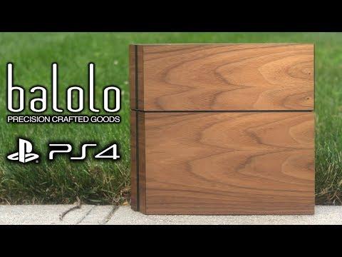 REAL WALNUT WOOD PS4 SKIN! (BALOLO WOOD COVER)