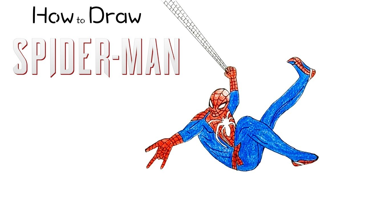 How To Draw Spider Man From Ps4