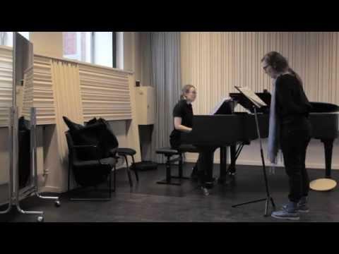 Min Förväntan (3/7) Practice with pianist Anna Christensson