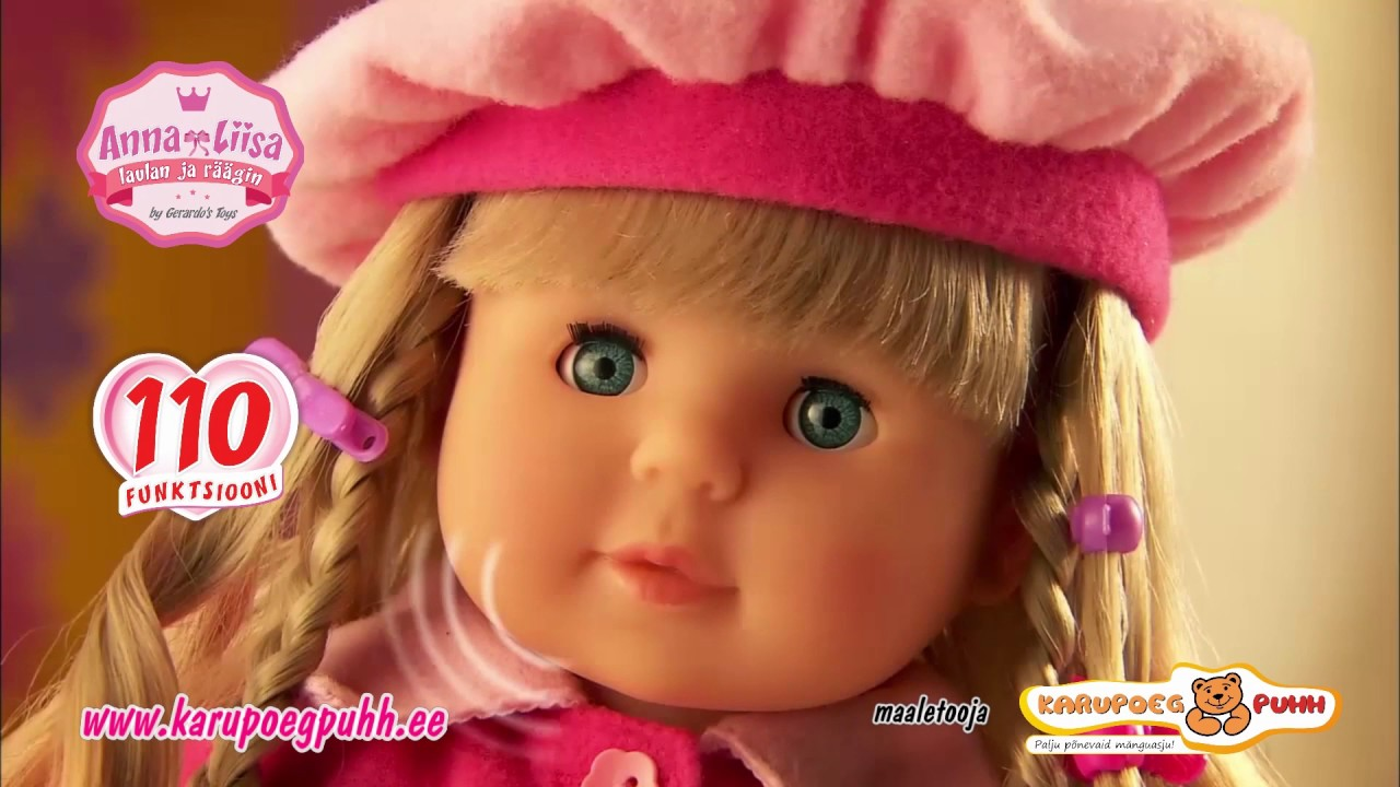 5286c32e475 Eestikeelne nukk Anna-Liisa - YouTube