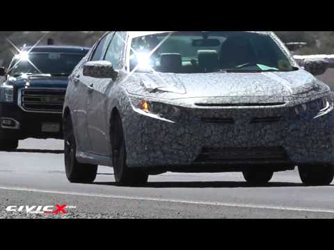2016 Civic Sedan (10th gen) Spied!