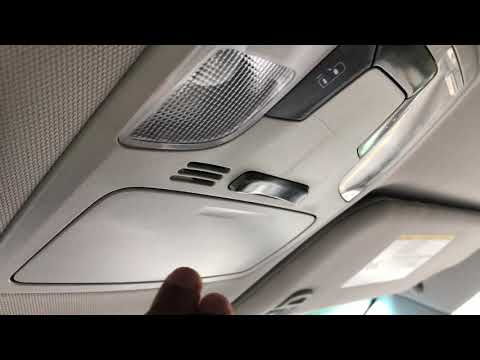 TOYOTA SIENNA - sunglasses compartment - How to open