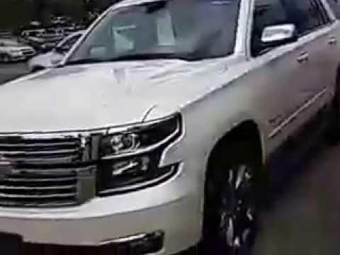 2017 Chevrolet Tahoe Ltz White Pearl Demo Available At Feldman Of Highland Mi